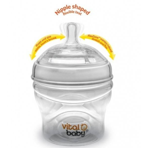 Biberon Vital Baby Breast-like - 240ml x2, 0 luni+
